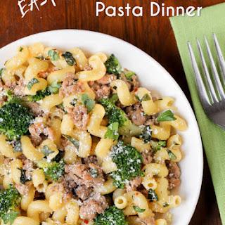 Easy Turkey Broccoli Pasta Dinner #Recipe