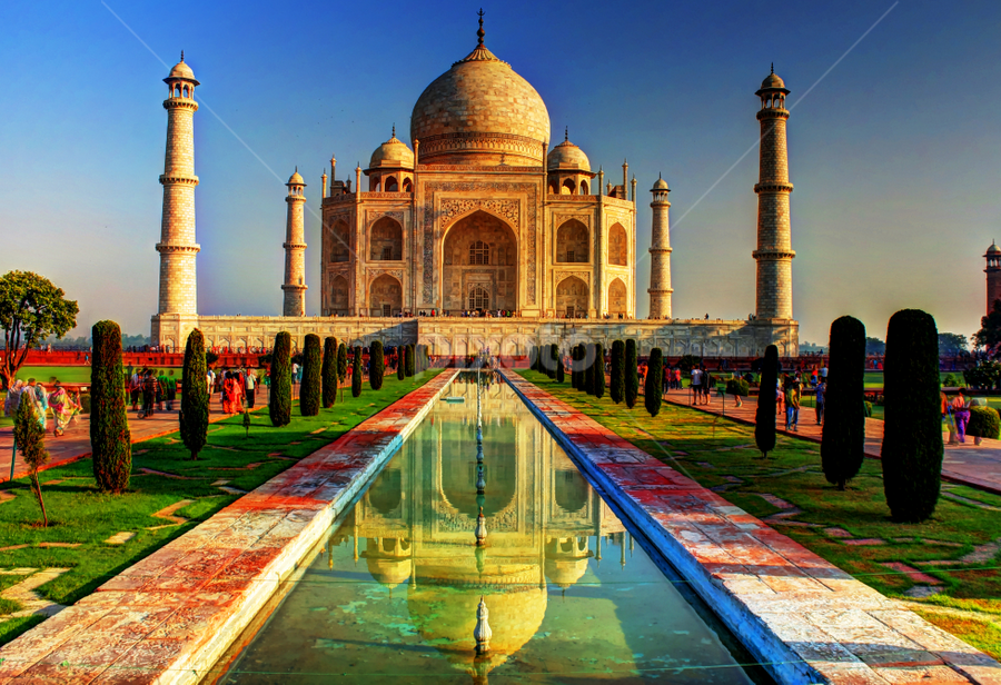 THE TAJ MAHAL by Suman Sengupta - Buildings & Architecture Public & Historical ( hdr, arcitecture travel agra india hdr, tajmahal, agra, india, architecture )