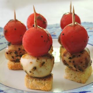 Marinated Mozzarella & Tomato Appetizers.