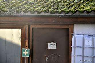 Photo: Moosbewachsenes Asbestzement-Dach auf dem Abstellbahnhof an der Ehmannstraße