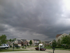 Photo: yesterday storm, Ohio storms are so weird.