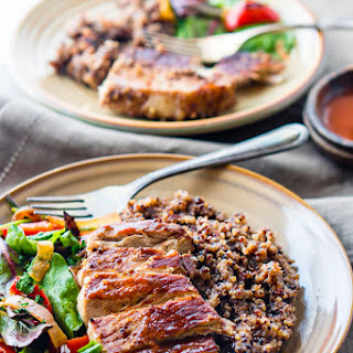 Gluten Free One-Pot BBQ Cherry Pork Chops and Quinoa