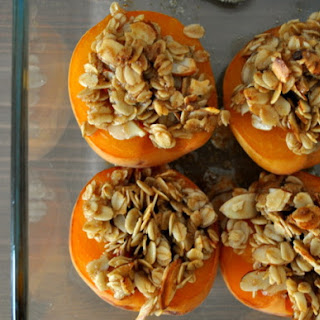 Baked Apricots with Brown Sugar Streusel