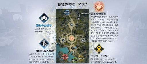 領地争奪戦のマップ