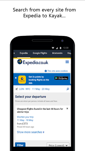 Compare Flight Tickets and Hotels 1.0 screenshots 3