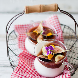 Coconut Panna Cotta W/ Balsamic Fig Compote Recipe