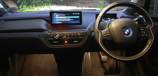 The clutter-free interface looks modern but not everyone will like the recycled materials used on the dash. Picture: SUPPLIED