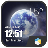 HD Super realism Clock Weather