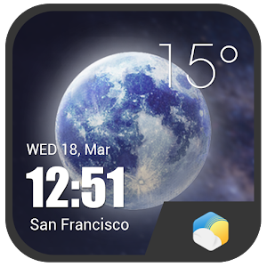 Download HD Super realism Clock Weather