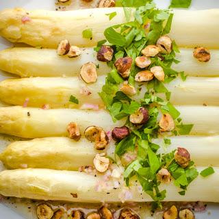 White Asparagus with Hazelnuts and Light Vinaigrette Recipe