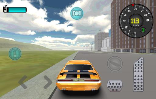 クラシックカー厳しい道路の3D