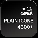 PLAIN ICONS APEX/NOVA/ADW/GO v4.0.0