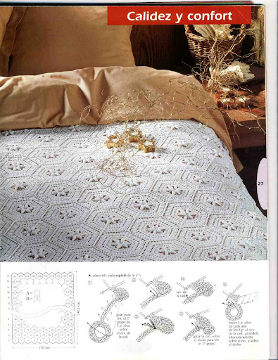 مفارش سرير كروشيه بالباترونصورمفارش سرير كروشيه