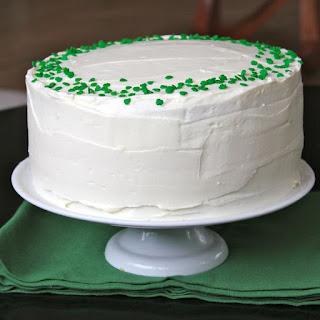 Green Velvet Baileys Cheesecake Cake
