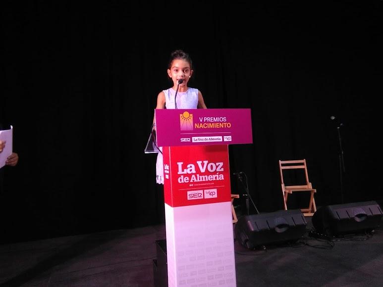 Eva Blánquez, campeona de gimnasia rítmica de tan solo nueve años, merecedora del Premio Deporte.