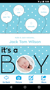 baby announcement creator