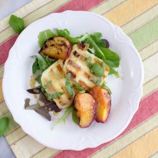 Grilled Halloumi & Peach Salad.