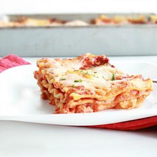 Three Cheese Lasagna (No Ricotta Cheese)