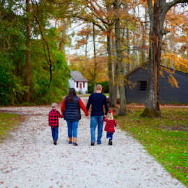 Fall walk  by Colin Four - People Family ( fall, family portrait, walking away, family, walk )
