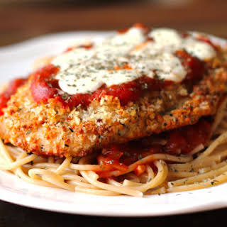 Oven-Baked Chicken Parmesan.