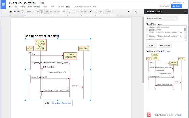 PlantUML Gizmo - Google Docs add-on