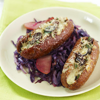 Stuffed Sausages with Garlic Mashed Potatoes.