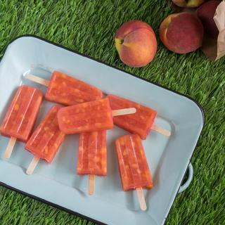 Frozen Lemonade Peach Pops