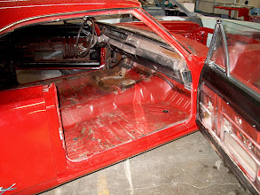 Photo: striping the car down for sand blasting