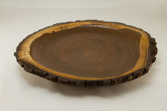 "Photo: Richard Webster 13 1/2"" x 2"" natural edge charger [walnut]"