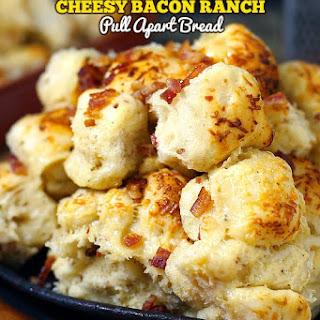 Cheesy Bacon Ranch Pull Apart Bread.