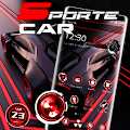 Red and Black Sports Speed Car Theme 🚗 APK
