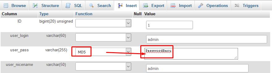 tutorial reset user dan password
