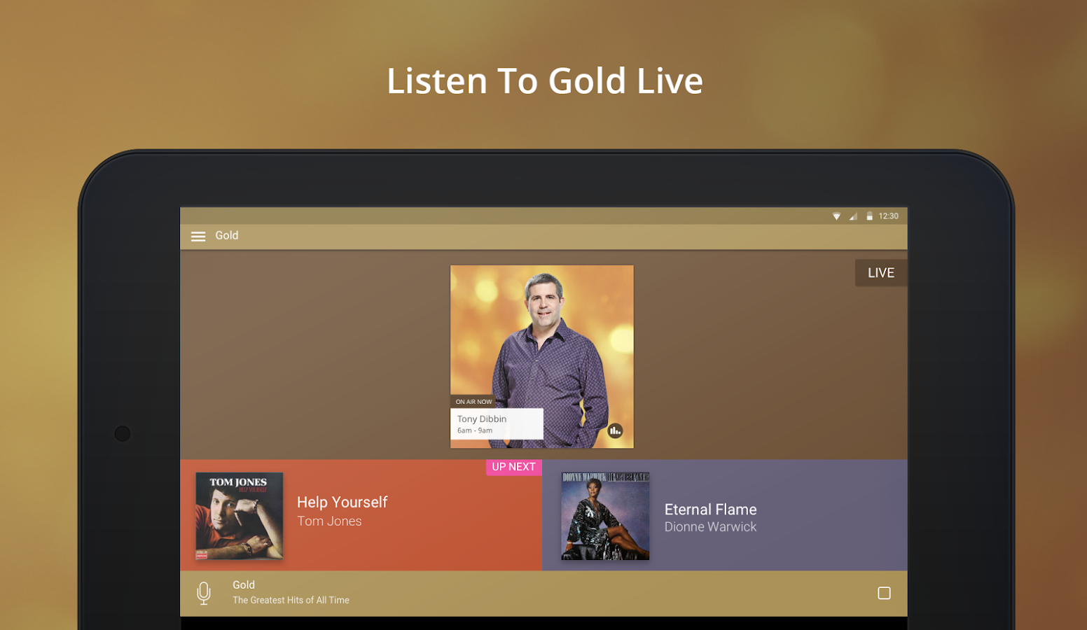 Gold Radio App- screenshot