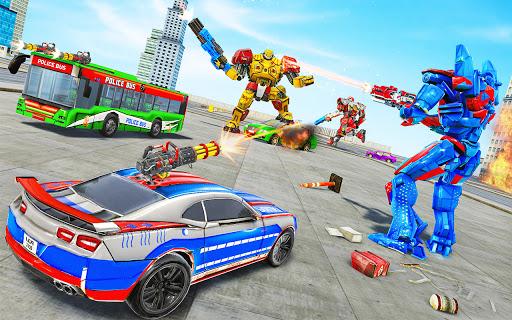 Bus Robot Car Transform War u2013Police Robot games apkdebit screenshots 2
