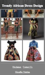 Trendy africké šaty designu - náhled