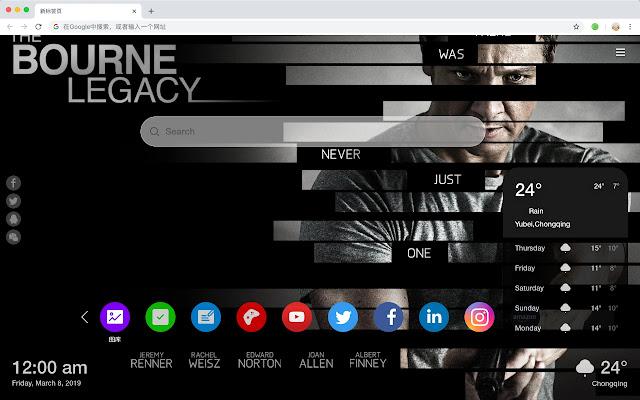 Jeremy Renner Popular Stars New Tab HD Themes
