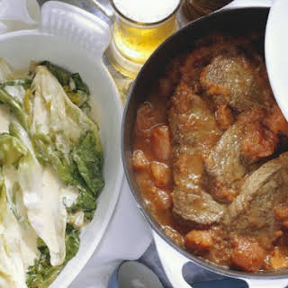 Stewed Steak with Chicory.