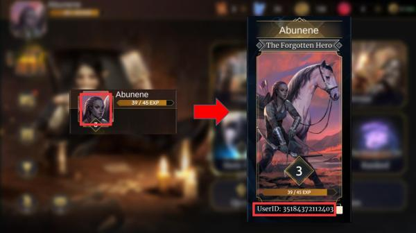 how to the elder scroll legends tesl user id