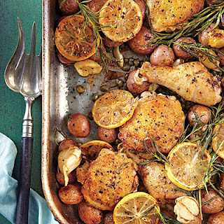 Lemon-Rosemary-Garlic Chicken and Potatoes.