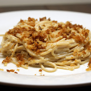 Creamy Parmesan Spaghetti With Brown Butter Bread Crumbs