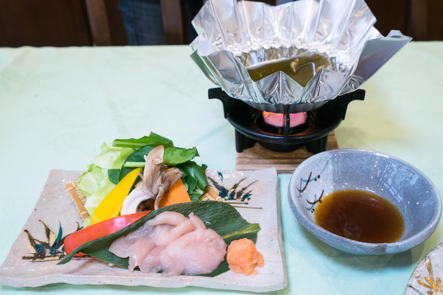 6.台物:国産鶏(笹身)の水炊き