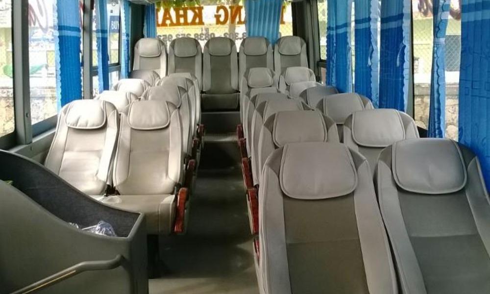 Nội thất xe Hoàng Khải từ Sài Gòn đi Bến Tre