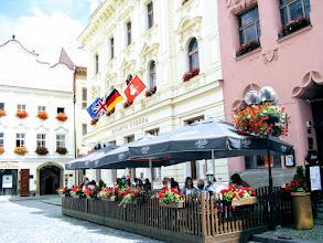 """Photo: Кафе """"Европа"""" на площади Пернштейна"""