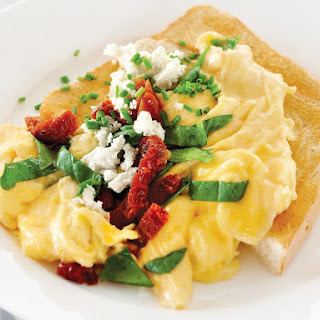 Scrambled Eggs with Feta.