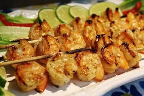 """Honey Mustard Shrimp on the Bar-B """"Big fan of shrimp? I am......"""