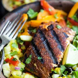 Fajita Salmon Salad Bowl