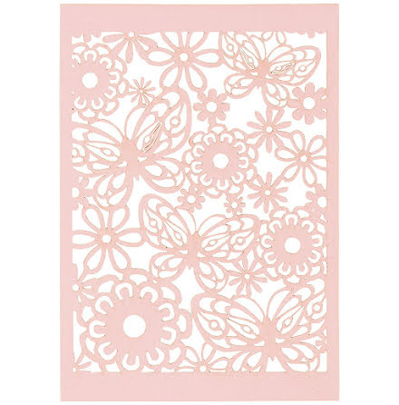 10-pack spetskartong - rosa