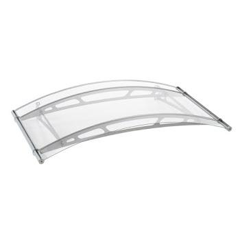 Auvent marquise de porte LT-Line 1500, 148 x 91 cm, verre acrylique transparent, fixations inox V2A