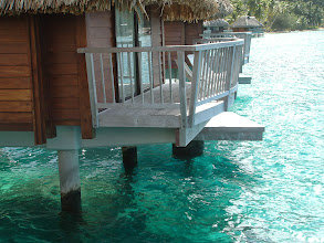 Photo: Our overwater bungalow.