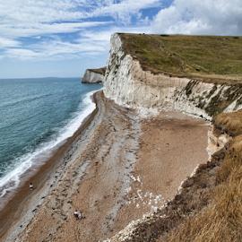 Jurassic Coast (UK) by Gianluca Presto - Landscapes Caves & Formations ( sky, coast, coastline, waterscape, nature, united kingdom, beach, hdr, clouds, sea, landscape )